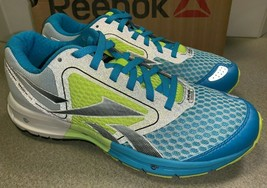 Reebok One Guide Running Shoes Yellow / Blue / Gray Synthetic Womens Size 7 M - $39.60