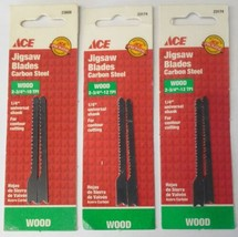 """Ace 23174 2-3/4"""" x 12 TPI Carbon Steel Wod Jigsaw Blades (3 Packs of 2) ... - $2.97"""