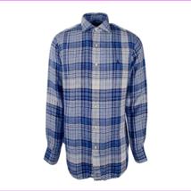 Polo Ralph Lauren Men's Plaid Sport Shirt, Blue\White, Size XS - $50.60