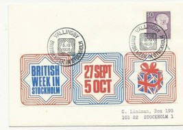 TRADE PRICE STAMPS SWEDEN BRITISH WEEK IN STOCKHOLM 1968 COVER - $3.75