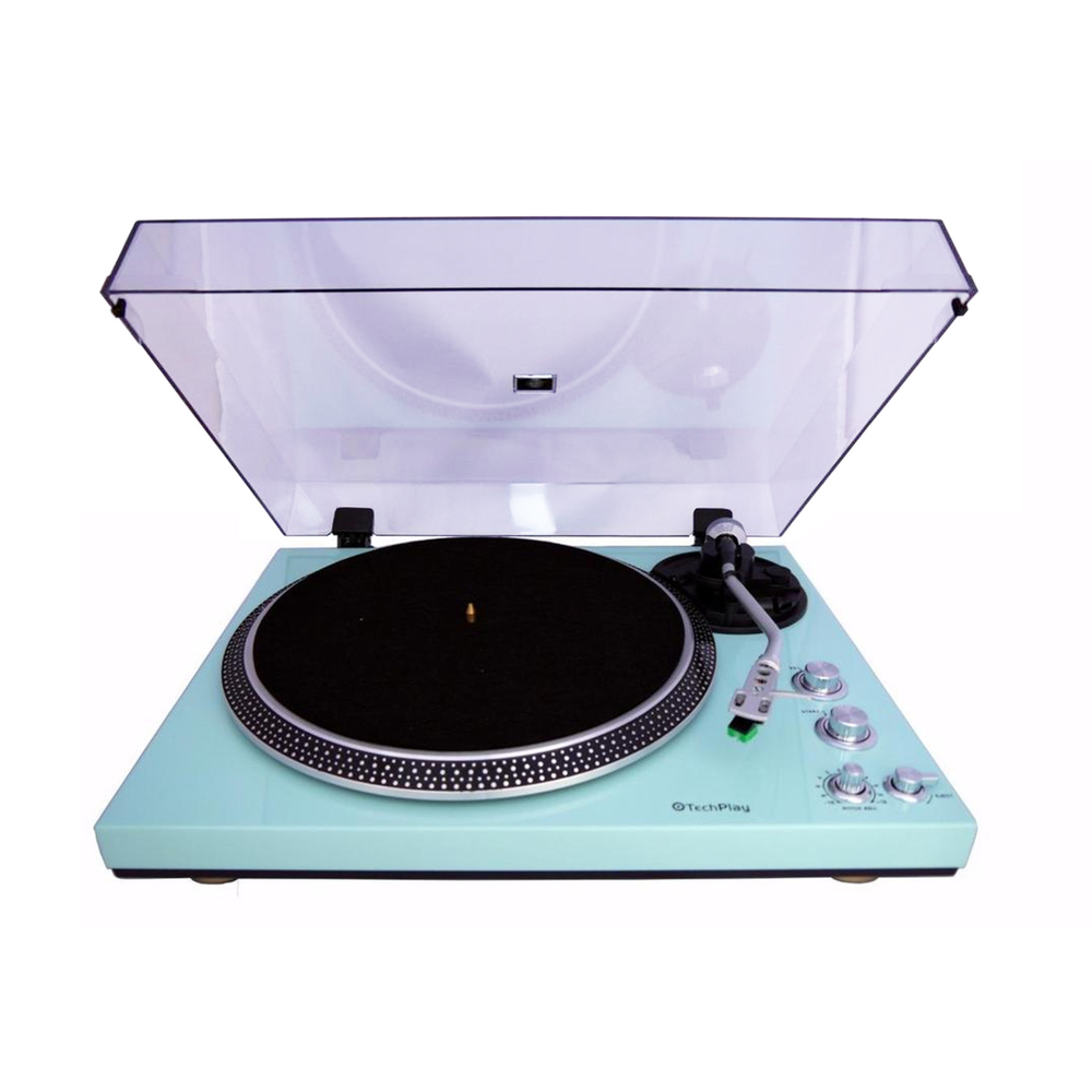 TechPlay 2 Speed Turntable with Built-in Phono Pre-amplifier