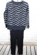 GAP KIDS / OLD NAVY Sweater + Leggings Outfit Set Girls Zebra Print 10-12 - $28.71