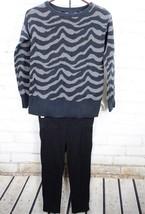 GAP KIDS / OLD NAVY Sweater + Leggings Outfit Set Girls Zebra Print 10-12 - $28.71