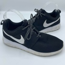 Nike Roshe Black White Mesh Running Athletic Sneakers Womens Size 8.5 - $27.70