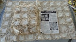 "Vintage ""Ring A Round O' Crochet"" Partially Finished Hemstitched Designs... - $98.99"