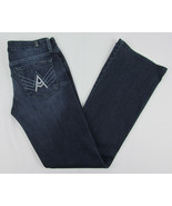 7 For All Mankind jeans A Pocket Boot cut Rhinestones Blue Womens Size 28 - $21.73