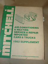 MITCHELL 1983 SUPPLEMENT AIR CONDITIONING & HEATING SERVICE & REPAIR IMP... - $11.99
