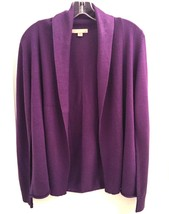 NEW $88 SZ M ONE A OPEN FRONT WINE PURPLE CARDIGAN SWEATER COAT TOP WOMENS - $27.71