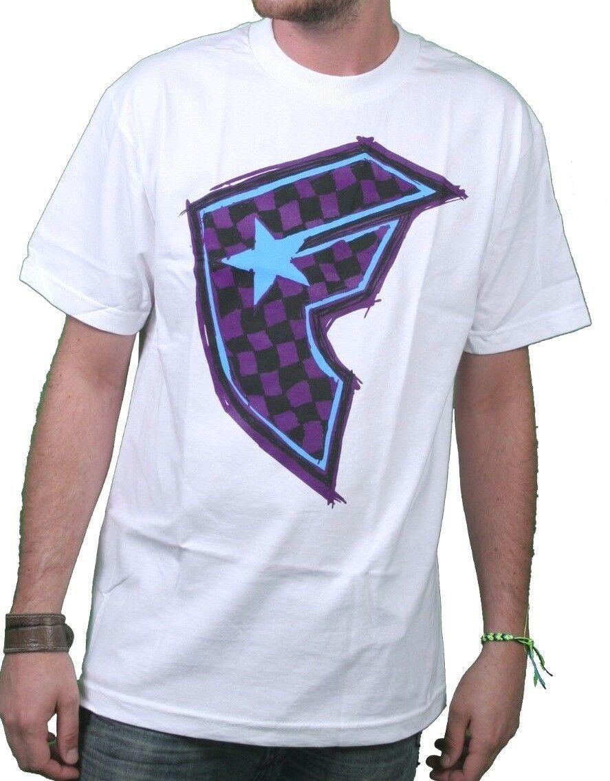 Famous Stars & Straps White/Purple Check It Checker BOH Badge of Honor T-Shirt