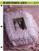 Beaded Wedding Album Annie's NEW Plastic Canvas Pattern Leaflet - $1.77