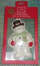 LENOX Bone China Snowman Cookie Press Ornament  NIP - $7.75
