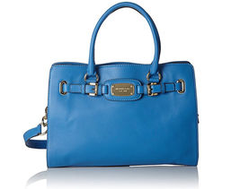Michael Kors Hamilton Large East West Heritage Blue Leather Tote - $194.95