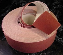 "2"" X 150 Ft SAND PAPER SHOP ROLL 100 GRIT sandpaper USA made lathe sheet... - $29.99"