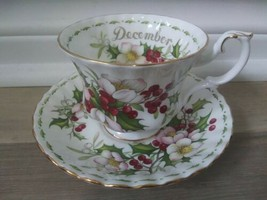 Royal Albert December Flower of the Month Christmas Rose Teacup and Saucer  - $55.99