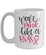 Breast Cancer Awareness Pink Ribbon Novelty Ceramic Coffee Mug - Wear Pi... - $19.75