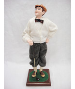"Simpich Character Dolls Sam Tweed Golfer 13.5"" #101 1997 Broken Thumb Rare - $211.61"