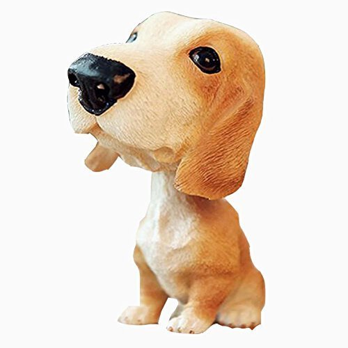 [Basset Hound] Bobbleheads Car Ornaments Resin Car Decoration,4.7x2.3''