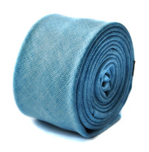 Frederick Thomas sky blue skinny linen textured tie FT1646