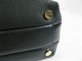 Michael Kors NEW $328 Black Leather Crossbody Messenger Hand Bag Pebbled Gold X image 8