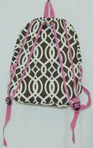 NGIL BIQ403BR Brown White Pink Canvas Backpack Geometric Design image 4