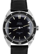 Vintage 1967 Omega Seamaster 120 Automatic Black 37mm 166.027 166.00027 Watch - $2,193.12