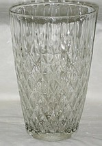 Anchor Hocking Crown Point Pattern Clear 10-inch Vase - $19.75
