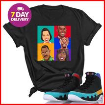 We Will Fit Martin Cast T-Shirt Retro Jordan 9 Colorblock Tshirt Black Cotton - $14.99+