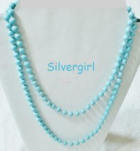 Flapper Style Vintage Plastic Beaded Necklaces Pink Blue Golden Grey Pearl White - $15.00