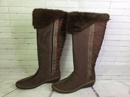 Timberland Grammercy Polar Sun Nylon Tall Lace Up Womens Brown Boots 88349 Sz 11 - $93.14