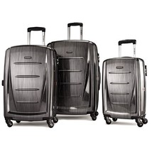 Samsonite Winfield 2 3PC Hardside 20/24/28 Luggage Set, Charcoal - $281.69
