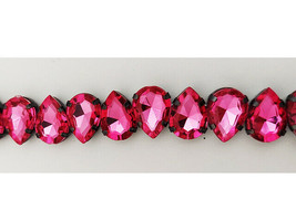 Darice Hot Pink Oval Beads, 7 Inches #1999-2631 image 2
