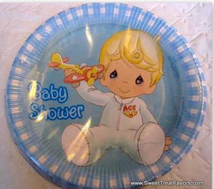 Precious Moments Party PLATES BOY Baby Shower Birthday Supplies BLUE Lun... - $9.88