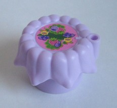 Fisher Price Little People 2009 Purple TABLE Flowers Princess Tree House Castle - $7.84