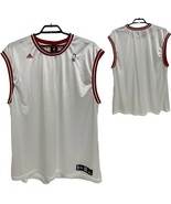 Adidas NBA Basketball White Red Jersey Tank Top Mens Sz 4XL - $18.81