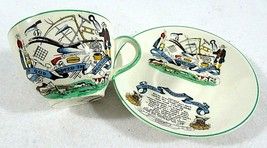 PV English Farmers Arms God Speed The Plough.Demitasse Cup & Saucer  - $22.23
