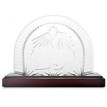 Waterford Crystal Nativity Creche Scene Plinth Wood Stand #40023542 New - $180.92