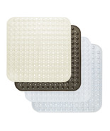 """Vinyl Shower Stall Bath Tub Mat Suction Cup Non Skid Back 21"""" x 21"""" Square - $20.29"""