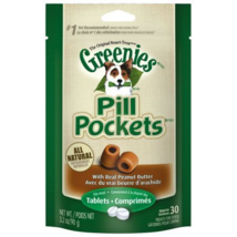 Greenies, Dog, Pill Pocket Concealer, Peanut Butter Flavor Treats, 30 Capsule