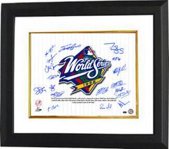 New York Yankees signed 16x20 Photo Custom Framed 1998 WS Champs Pinstripe Giuli - $248.95