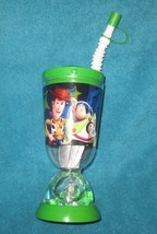 Disney Story Toy Story Buzz & Woody Toy Story Plastic Cup with straw. Br... - $16.49