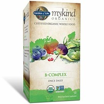 Garden of Life B Complex with Folate - mykind Organic Whole Food Supplement for - $27.41