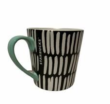 2016 Starbucks Hidden Polar Bears Mug in Black White w/ Mint Handle - $29.67