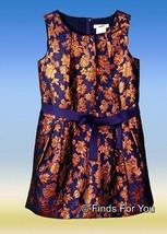 J Crew Crewcuts Copper Bloom Jaquard Dress 7 03572 - $36.79