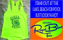 Next Level Ladies' French Terry Racerback Tank Shell Yeah  - $20.99+