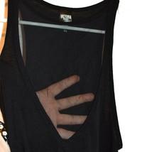 Victoria's Secret Victoria Sport Women's Black Illusion V-Neck Tank Top Size S image 2