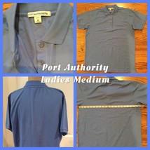 NWOT *Port Authority Ladies Polo Size Medium Blue 65% Polyester 35% Cott... - $6.92