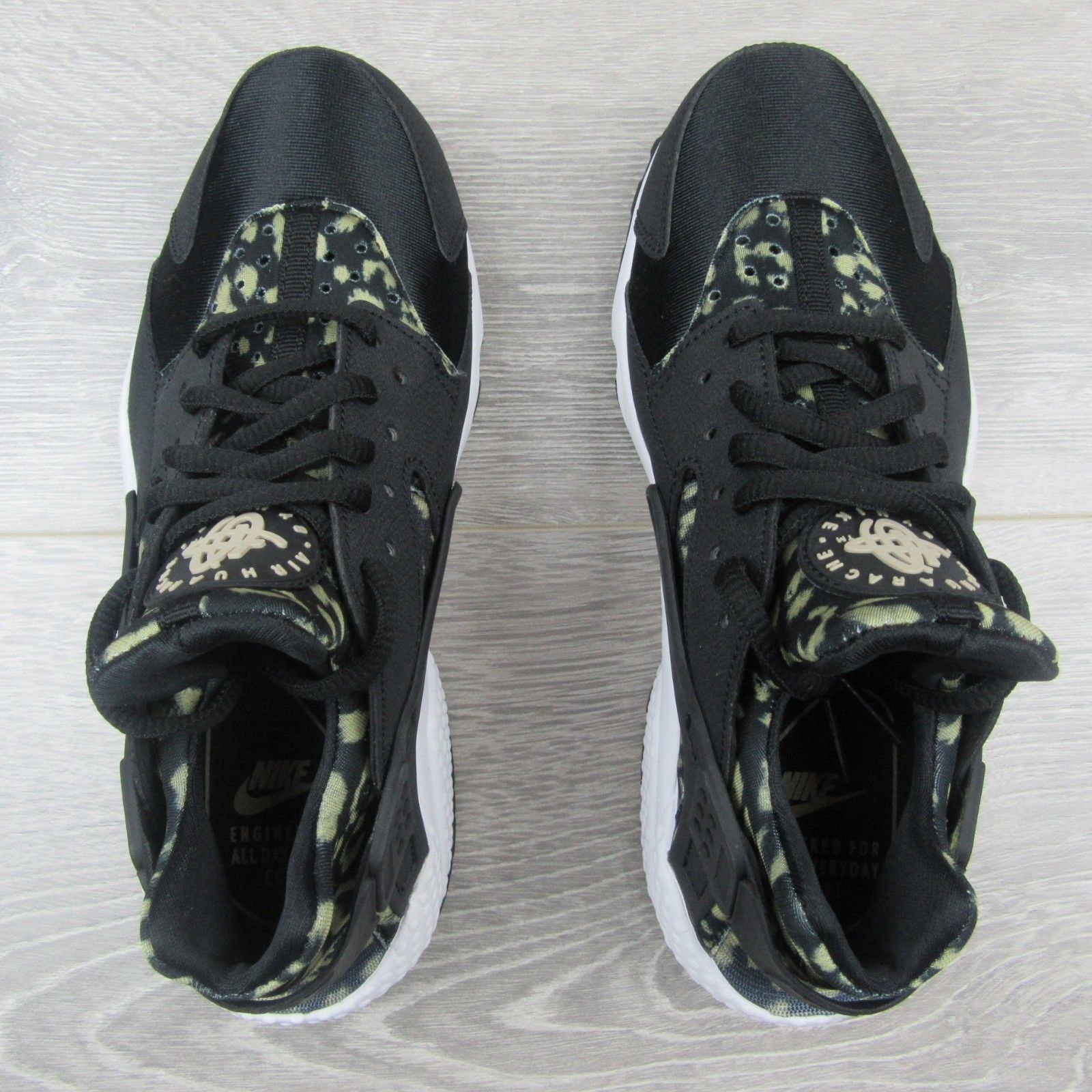6707abc84fa95 Nike Air Huarache Shoes Size 6.5 Womens Leopard Print Black Beige New  725076 007