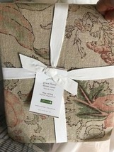 Pottery Barn Grace Duvet Cover Queen Floral Linen Texture No Shams - $126.87