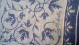 Faith Austin Handkerchief EUC Blue Urn Print image 6