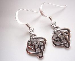 Celtic Weave Dangle Earrings 925 Sterling Silver Corona Sun Jewelry - $12.86